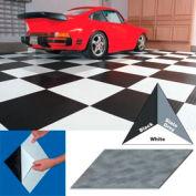 "Vinyl Tile Matting With Adhesive 24""x24"" Levant Pattern Black Case of 10"