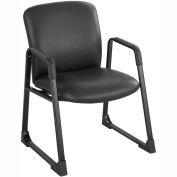 Big & Tall Guest Back Chair Black Vinyl