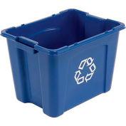 Rubbermaid Recycling Box - 14 Gallon Blue