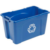 Rubbermaid Recycling Box - 18 Gallon Blue