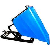 Bayhead Products Blue Plastic Self-Dumping Forklift Hopper 5/8 Cu Yd