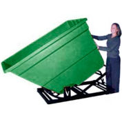 Bayhead Products Green Plastic Self-Dumping Forklift Hopper 2.2 Cu Yd