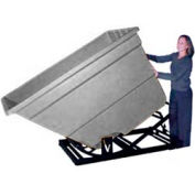 Bayhead Products Gray Plastic Self-Dumping Forklift Hopper 2.2 Cu Yd