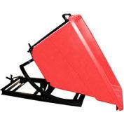 Bayhead Products Red Plastic Self-Dumping Forklift Hopper 5/8 Cu Yd