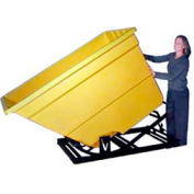Bayhead Products Yellow Plastic Self-Dumping Forklift Hopper 2.2 Cu Yd