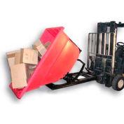 Bayhead Products Red Plastic Self-Dumping Forklift Hopper 1.1 Cu Yd