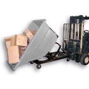 Bayhead Gray Plastic Self-Dumping Forklift Hopper 1.1 Cu Yd with Caster Base