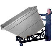 Bayhead Gray Plastic Self-Dumping Forklift Hopper 1.7 Cu Yd with Caster Base
