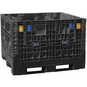 Buckhorn folding Bulk Shipping Container 48x45x50 2000 Lbs. Black