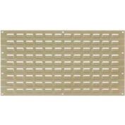 Global Industrial™ Louvered Wall Panel Without Bins 18x19 Tan - Pkg Qty 4