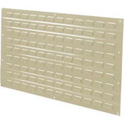 Global Industrial™ Louvered Wall Panel Without Bins 36x19 Tan - Pkg Qty 4