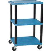 Luxor WT42BU-B Blue Tuffy Garage & Shop Utility Cart 250 Lb. Cap.