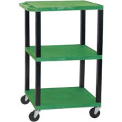 Luxor WT42G-B Green Tuffy Garage & Shop Utility Cart 250 Lb. Cap.