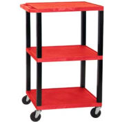 H. Wilson WT42R-B Red Tuffy Garage & Shop Utility Cart 250 Lb. Cap.