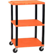 H. Wilson WT42OR-B Orange Tuffy Garage & Shop Utility Cart 250 Lb. Cap.