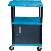 Luxor WT42C2 Blue Tuffy Garage & Shop Utility Cart with Cabinet 250 Lb. Cap.