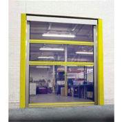 TMI Spring-Loaded Roll-Up Bug Screen Dock Door with 11 oz Mesh Panels 8 x 8 - FS-STM-IJ-8X8-MESH