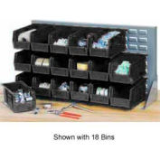 """Quantum QBR-2721-210-24CO Bench Rack With 24-5-3/8""""D Conductive Stacking Bins, 27x8x21"""