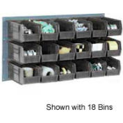 """Quantum QLP-3619-230-18CO Louvered Panel with 18 10-7/8""""D Conductive Stacking Bins, 36x19"""