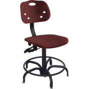 "Multishift 24/7 Antimicrobial Stool 15-20"" Seat Ht. Burgundy"
