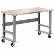 """72""""W x 30""""D Mobile Workbench - Stainless Steel"""