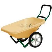 Dandux Loadumper Plastic Lawn & Garden Nursery Wheelbarrow 42042 - 4 Cu. Ft. - 200 Lb. Cap.