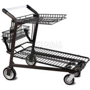 VersaCart® Retractable Tray Top Shelf Lawn & Garden Shopping Cart Dark Gray