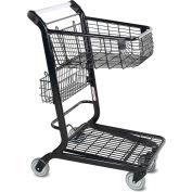 VersaCart® Flatbed Retail Shopping Cart 2 Cu Ft Metallic Gray 101-350-B-MTG