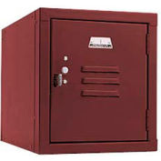 Penco 6159V736 Vanguard One High Box Locker 12x15x13-5/8 Unassembled Burgundy