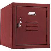 Penco 6179V736 Vanguard One High Box Locker 12x18x13-5/8 Unassembled Burgundy