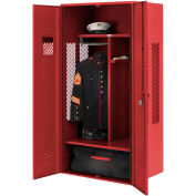 Penco 6KGDA40722 Patriot Gear Locker 48x24x72 Ready To Assemble Patriot Red