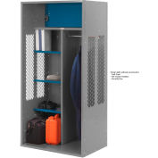 Penco 6KTDA10028 Patriot Turnout Locker 30x24x72 Ready To Assemble Gray