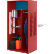 Penco 6KTDA20722 Patriot Turnout Locker 36x24x72 Ready To Assemble Patriot Red