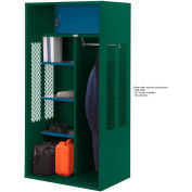 Penco 6KTDA40812 Patriot Turnout Locker 48x24x72 Ready To Assemble Hunter Green