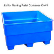 Bayhead SNP-LID-BLUE Lid For Nesting Pallet Container 43x43 Blue