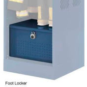 Penco 6ACXAB94H806 Patriot Locker Accessory Foot Locker 30x24x12 Marine Blue