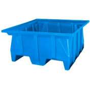 Bayhead SKA-1-BLUE Stacking Pallet Container 40x39x20 600 Lb Cap.  Blue