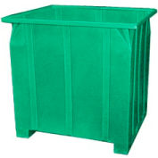 Bayhead GG-48-GREEN Stacking Pallet Container 47x42x48 1200lb Cap. Green