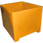 Bayhead DWP-37-YELLOW Stacking Pallet Container 49x41x37 1200lb Cap. Yellow