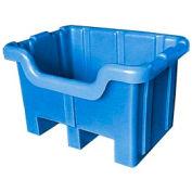Bayhead MBF-1BLUE Hopper Front Plastic Container 28x20x18 300 Lb Cap. Blue