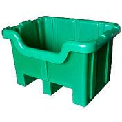 Bayhead MBF-2GREEN Hopper Front Plastic Container 41x37x32 1000 Lb Cap. Green