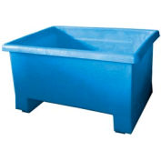 Bayhead TEX-24BLUE Stacking Plastic Container 32x24x18 600 Lb Cap.  Blue