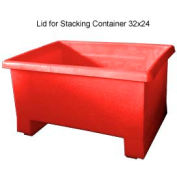Bayhead TEX-LIDRED Lid For Stacking Container 32x24 Red