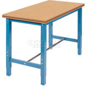 "48""W x 24""D Production Workbench Return - Shop Top Square Edge Bench - Blue"