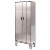 Heavy Duty Stainless Steel-Bi-Fold Cabinet with Legs 36x18x84