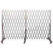 Folding Security Gate 6'Hx12'W In-Use