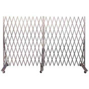 """Folding Security Gate 7'6""""Hx12'W In-Use"""