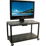 "Luxor Black Plasma & Flat Panel Monitor Shelf Cart 28"" H 2 Shelves"
