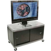 "Luxor Gray Plasma & Flat Panel Monitor 2 Shelf Security Cart 24"" H"