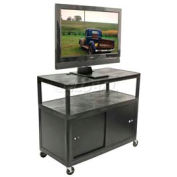 "Luxor Black Plasma & Flat Panel Monitor 3 Shelf Security Cart 38"" H"